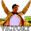 arduinna: Darien Fawkes of Invisible Man with both fists up over his head in a victory shout (Darien-victory)