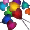 muccamukk: Drawing of heart-shaped lollipops in rainbow colours. (Misc: Lollipop Hearts)