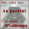 "celli: An image of Murderbot with the quote ""The idea was so painful, I dropped to 97% efficiency"" (Murderbot 97% efficiency)"