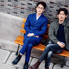 schneefink: Shen Wei and Zhao Yunlan sitting on a bench (Guardian SW and ZY on bench)