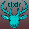 shy_magpie: A teal colored deer captioned tl;dr (TL;DR)