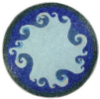 edenfalling: circular blue mosaic depicting stylized waves (ocean mosaic)