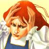 isabellerecs: Leo & Diane Dillon illustration (headache)