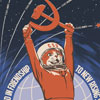 sabotabby: astronaut cat wielding a hammer and sickle (cat space union)
