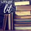 opensummer: Image of a stack of old books with the text let's get lit in the top left corner (let's get lit)