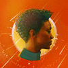 goodbyebird: Star Trek Discovery: cut-out of Michael in profile on an orange background. (Disco Burnham)