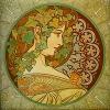 lokifan: Art Nouveau woman (Art nouveau)