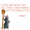 "morgi: Remy from ""Ratatouille"" holding a wooden spoon (Remy)"