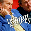 "talibusorabat: Two older white man sitting with the caption ""Peanut gallery"" (Slings & Arrows: Peanut gallery)"
