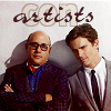"lokifan: Mozzie & Neal, text ""con artists"" (Mozzie & Neal: con artists)"