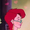 morgi: A still from the RGB episode in which Janine has cartoon hearts over her head (cartoon hearts)