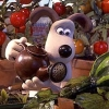 cathyw: Gromit with a watering can and vegetables (gardening)