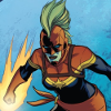 kate_nepveu: Carol Danvers in space with a glowing fist (Captain Marvel)