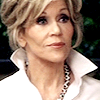 sarken: close-up of grace with her hair up ([grace and frankie] she's beauty she's)