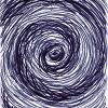 lb_lee: a whirlpool of black and grey rendered in cross-hatching (ocean)