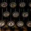 lj_writes: Close-up of the keys of a typewriter. (typewriter)