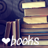 nerakrose: image of stacked books with the text ❤ books (books)