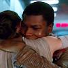 violsva: Finn and Rey hugging from Star Wars: The Force Awakens (finnrey hugs)