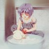ifbymyhands: Kano washing Potato. (the happy days)