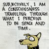 kaffyr: A cartoon dog ponders reality (Subjective pup)