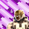bluebaron: An image of Agent Maine from Red vs Blue, w cat ears & whiskers, silhouetted against a background of purple rectangles. (cat!maine)
