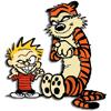 redsnake05: Evil Calvin and Hobbes plot mayhem and destruction (Snark: Evil calvin and hobbes)