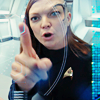 winterfish: star trek's detmer points mock angrily (star trek disco: detmer pointing)