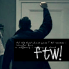 montanaharper: dean punching the air with the text F T W (ftw)