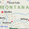 montanaharper: close-up of helena montana on a map (arthur pretty)