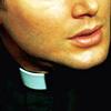 montanaharper: dean in a priest's collar (spn priest dean)