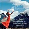 naye: a woman in a red dress reaching towards the sky (min röda dräkt)