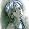 naye: nami from one piece in monochrome, full of sadness (kanashii)