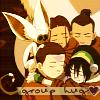 naye: the whole aang-gang hugging (a:tla - group hug)