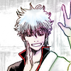 naye: gintoki from gintama raising his hand to say hey (gintoki)