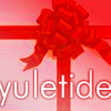 montanaharper: pink icon with a red bow and text saying yuletide (yuletide)