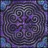lavendertook: (Hmong mandala, reverse applique)