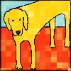 my_cnnr: yellow dog (Default)