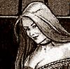 ilyena_sylph: black and white art of a woman smirking (Lady with a smirk)