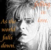 ilyena_sylph: jareth with lyrics from 'as the world falls down' (Labyrinth: world falls down)