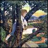 lavendertook: kid in tree watching world (surveying)