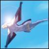 opusculus: Digital Devil Saga's Cielo/Dyaus flying in a blue sky (Blue sky in flight)