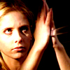 outforawalk: Buffy glares, while stopping a sword with her bare hands. She finds her awesome. (btvs_buffyiswhatisleft)