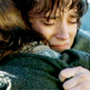 lavendertook: frodo hugs sam on the boat across the anduin (f/s hugs)