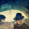 jona: Natsume holding umbrella over Bem (Bem)