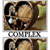 "outlineofash: A clockwork heart with overlaid text reading ""Complex."" (Text - Complex)"