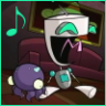 phrasemuffin: GIR laughs with a music note (GIR Laughs)