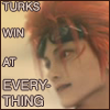 "hokuton_punch: Screenshot of Reno from Advent Children, captioned ""Turks win at everything."" (reno ff7 advent children turks pwn)"