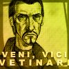 "lokifan: Cartoon!Vetinari, text ""Veni, Vici, Vetinari"""" (Veni Vetinari Vici)"
