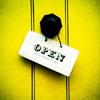 pennyroyal: 'Open' sign on yellow door (Doors are yellow like sunshine)