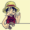 foreden: (op - luffy - eating & moving hand to say)